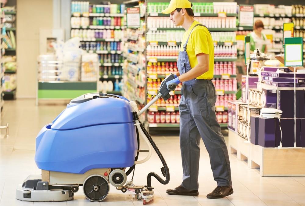 Čistenie v malých predajniach a supermarketoch